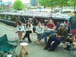 Graduation BBQ in Castlefield basin