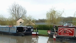 The boats moored at Blue Lias