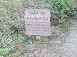 the end of the navigable Basingstoke canal