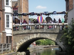 Newbury carnival passes over Northbrook bridge
