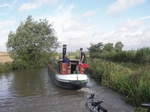 We pass Emily Anne (steam narrowboat)